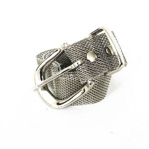 Metal Mesh Belt in Silver